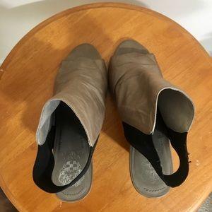 Vince Camuto open toe high heels.